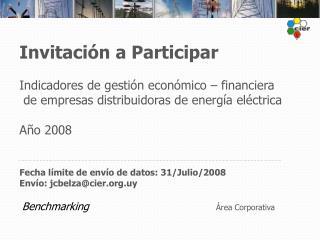 Invitación a Participar  Indicadores de gestión económico – financiera