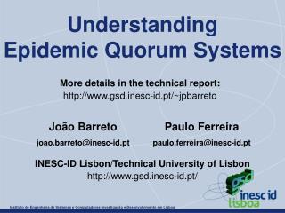 Understanding Epidemic Quorum Systems