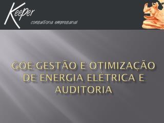 GOE-Gestão  e Otimização de Energia Elétrica e Auditoria
