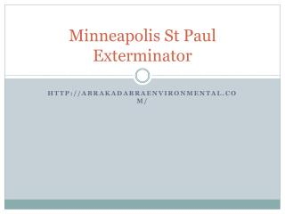 Minneapolis St Paul exterminator