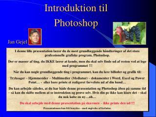 Introduktion til Photoshop