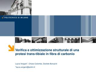 Verifica e ottimizzazione strutturale di una protesi trans-tibiale in fibra di carbonio