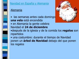 Navidad en Espa�a y Alemania