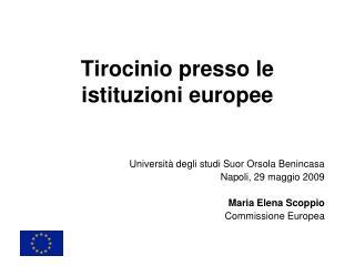 Tirocinio presso le istituzioni europee