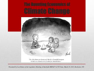 The Daunting Economics of  Climate Change