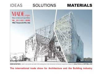 The Must-See event for the World of              Architecture and Construction