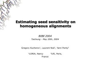 Estimating seed sensitivity on homogeneous alignments