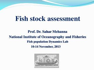 Fish stock assessment