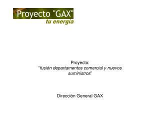 """Proyecto:  """" fusión departamentos comercial y nuevos suministros """""""