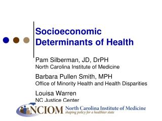 Socioeconomic Determinants of Health