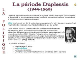 La période Duplessis
