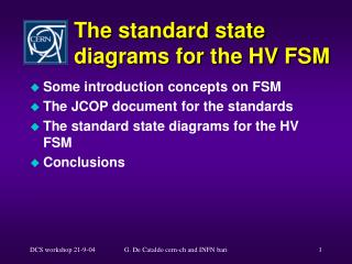 The standard state diagrams for the HV FSM