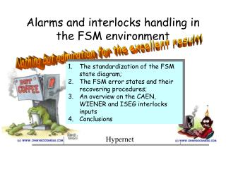 Alarms and interlocks handling in the FSM environment