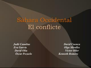 Sàhara Occidental El  conflicte