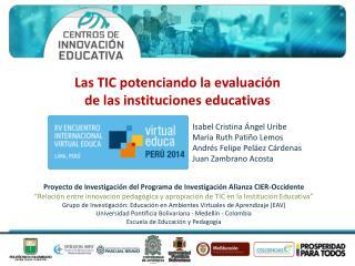 Proyecto de Investigación del Programa de Investigación Alianza CIER-Occidente