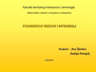 Fakultet kemijskog in ž enjerstva  i  tehnologije