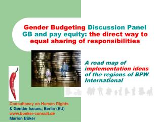 A road map of i mplementation ideas  of the regions of BPW International