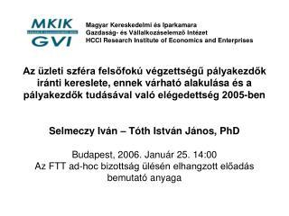 Magyar Kereskedelmi és Iparkamara Gazdaság- és Vállalkozáselemző Intézet