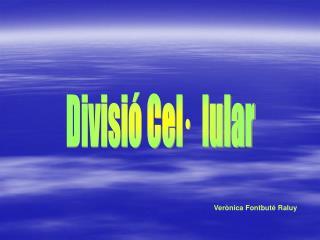 Divisió Cel·  lular