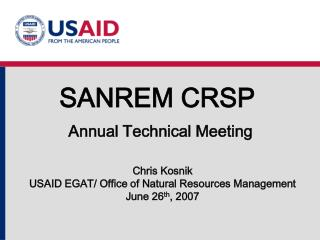 SANREM CRSP Annual Technical Meeting