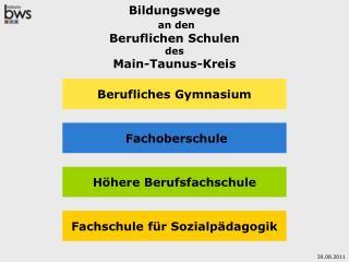 Bildungswege an den Beruflichen Schulen des Main-Taunus-Kreis