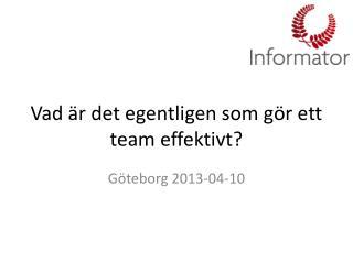 Vad är det egentligen som gör ett team effektivt?