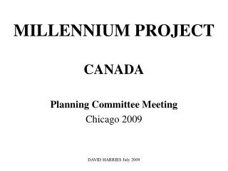 MILLENNIUM PROJECT CANADA