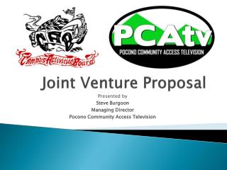 Joint Venture  P roposal