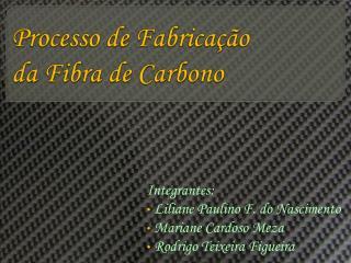 Processo de Fabricação da Fibra de Carbono