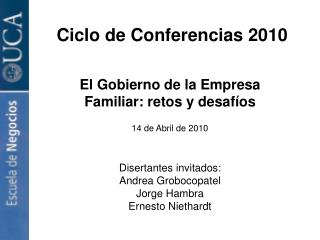 Ciclo de Conferencias 2010