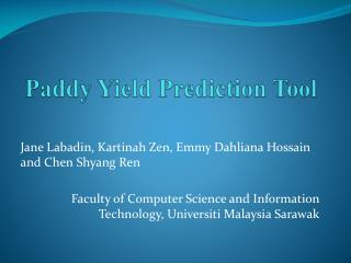 Paddy Yield Prediction Tool
