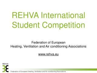 REHVA International Student Competition