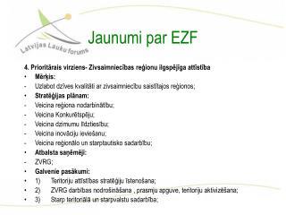 Jaunumi par EZF