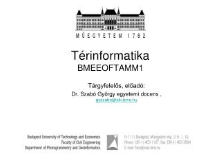 Térinformatika BMEEOFTAMM1