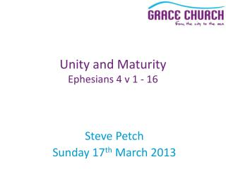 Steve Petch Sunday 17 th  March 2013