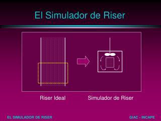 El Simulador de Riser