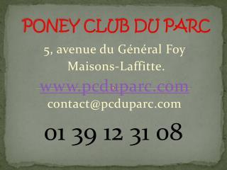 PONEY CLUB DU PARC
