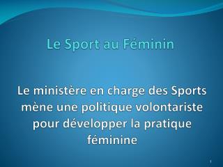 Le Sport au F�minin