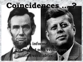 Coïncidences … ?
