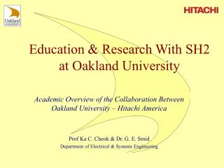 Education & Research With SH2 at Oakland University