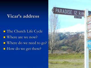 Vicar's address
