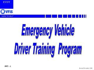 Emergency Vehicle Driver Training  Program