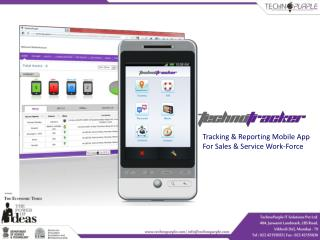 Tracking & Reporting Mobile App  For Sales & Service Work-Force