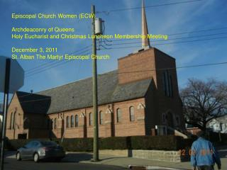 Episcopal Church Women (ECW) Archdeaconry of Queens