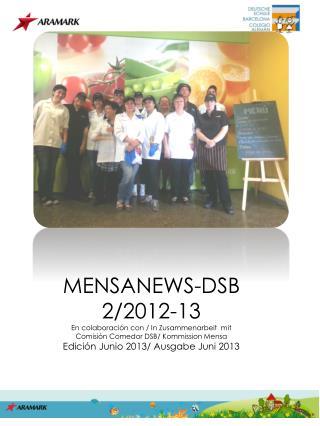 MENSANEWS-DSB 2/2012-13 En colaboración con / In Zusammenarbeit  mit