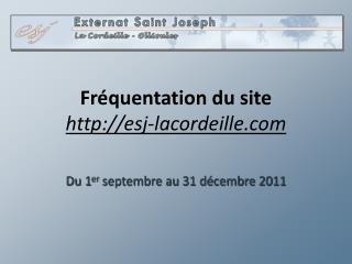 Fréquentation du site esj-lacordeille