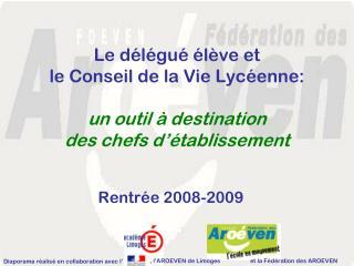 Rentrée 2008-2009