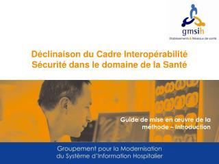 Déclinaison du Cadre Interopérabilité Sécurité dans le domaine de la Santé