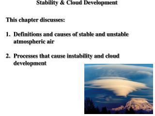Stability & Cloud Development