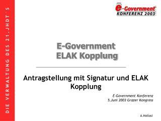 E-Government ELAK Kopplung